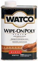 Полироль для дерева финишная бесцветная, глянцевая, WATCO Wipe-On Poly, 0,946 л