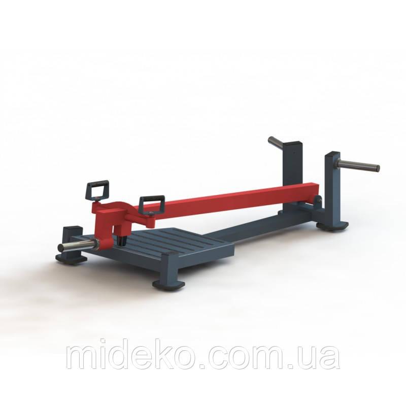 Т-образная тяга с упором на ноги MBL-314