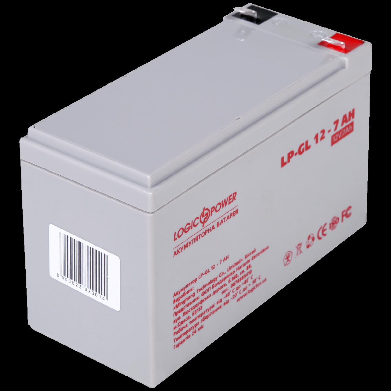 Акумулятор гелевий LP-GL 12 - 7 AH