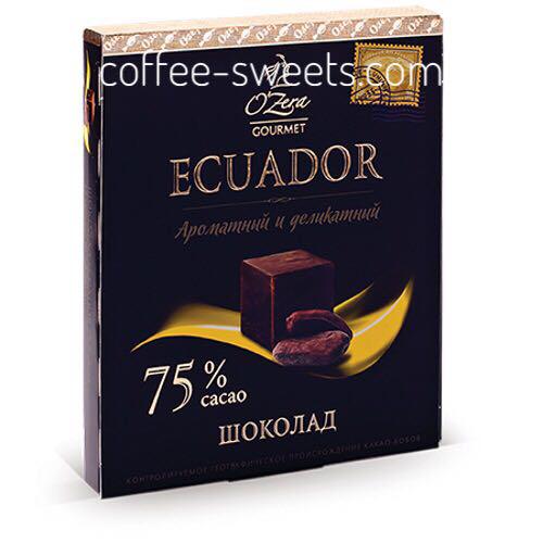 Шоколад O'Zera 90г Ecuador 75%