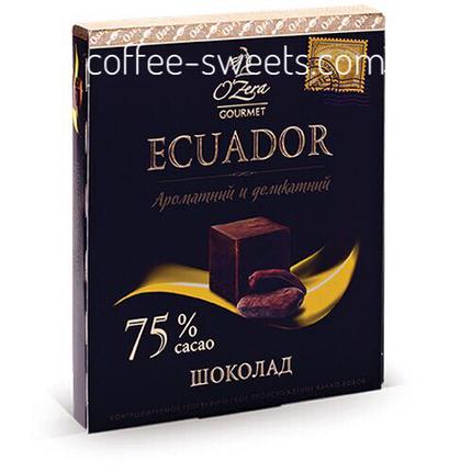 Шоколад O'Zera 90г Ecuador 75%, фото 2