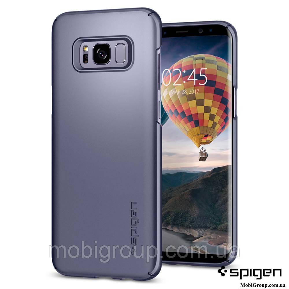 Чехол Spigen для Samsung S8 Plus Thin Fit, Orchid Gray , фото 1