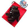 Мешок-пыльник для обуви с затяжкой (красный)