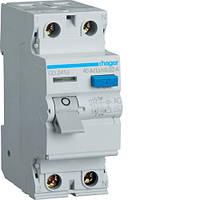 Пристріій захисного відключення 2P 40A 30mA AC  Hager CD241J