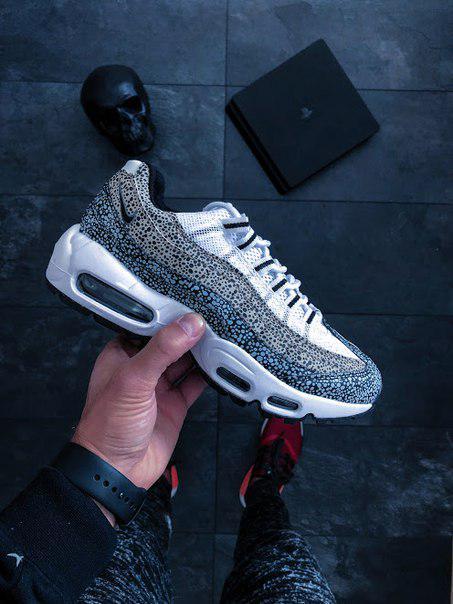 buy online 4f3e2 e792a Женские кроссовки Nike Wmns Air Max 95 Premium Safari Pack (cream white /  black) ...
