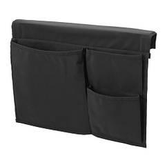 Карман для кровати IKEA STICKAT 39x30 см для хранения черный 803.783.38