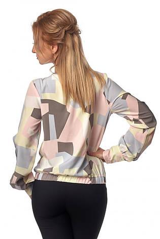 Яркая модная летняя женская блуза на запах, фото 2