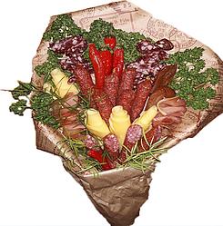 Букет овощи сыр колбаски Гастрономический