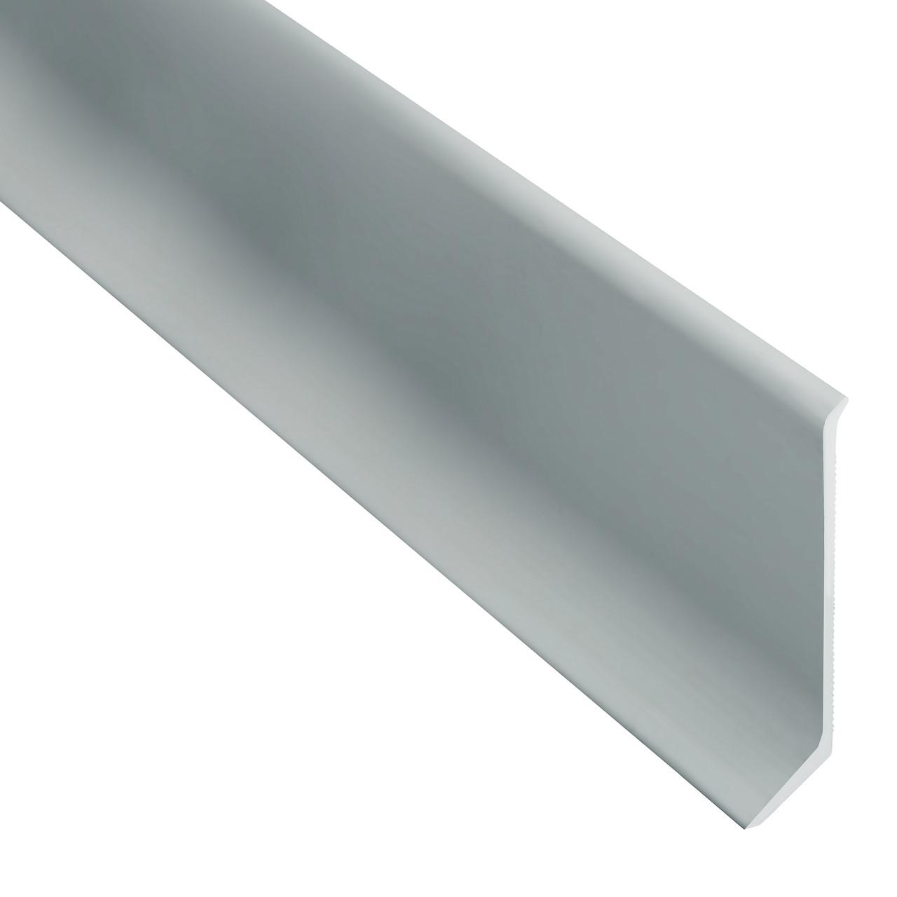 Плинтус алюминиевый анодированный 40мм. Серебро, длинна 2700 мм.
