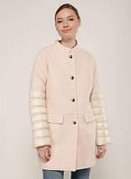 Madzerini пальто текстиль биопух  женское  SILVA beieg-rose, фото 1