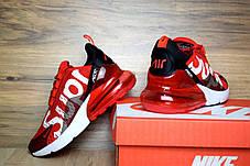 Кроссовки женские беговые Nike Air Max 270, красные, материал - текстиль, подошва - пена, фото 3