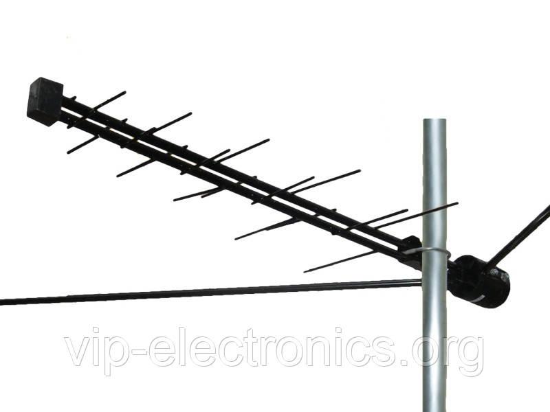 Антена ТВ МВ+ДМВ  Ворона алюміній+підсилювач