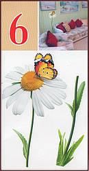 Наклейка, ромашка, цветы, бабочка, декупаж, интерьерная Декор