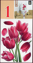 Наклейка, тюльпан, цветы,  интерьерная Декор, декупаж, тюльпаны