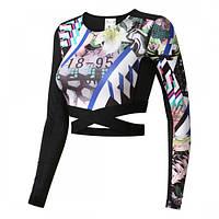 Укороченная спортивная футболка Reebok Competition DH8200 - 2018
