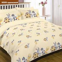Детское постельное белье в кроватку  ранфорс кремовое Viluta