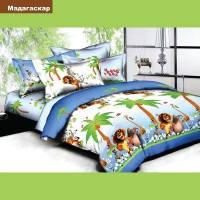 Мадагаскар,Комплект постельного белья подростковый ранфорс Вилюта