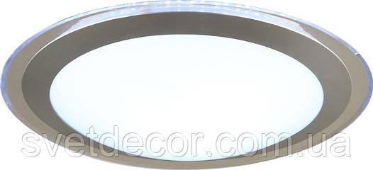 Светодиодный светильник (люстра) с пультом SMART 20W (прозрачный) Накладной