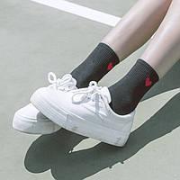Носки Сердце Cotton Sox - Низкие - черные