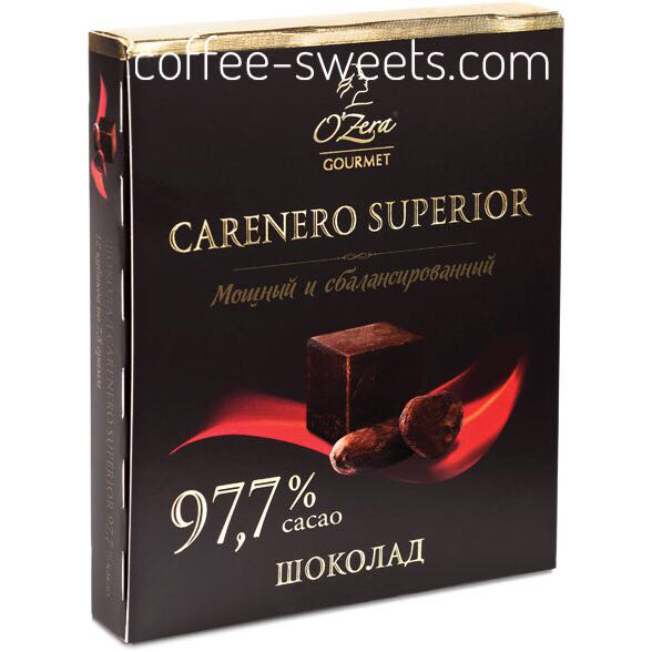 Шоколад темный O'Zera Carenero superior 97,7% 90гр