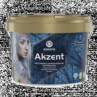 Антибактериальная особо прочная влагостойкая полуглянцевая моющаяся краска для стен ESKARO Akzent, 2,7л