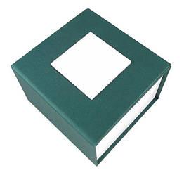 Зеленая подарочная картонная коробочка для наручных часов