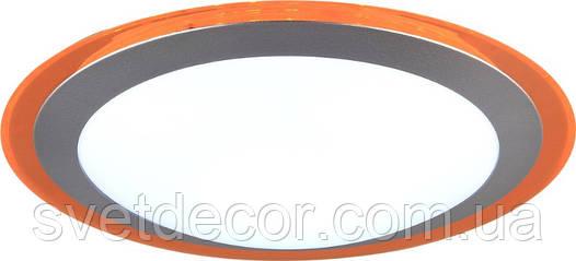 Светодиодный светильник (люстра) с пультом SMART 20W (оранжевый) Накладной