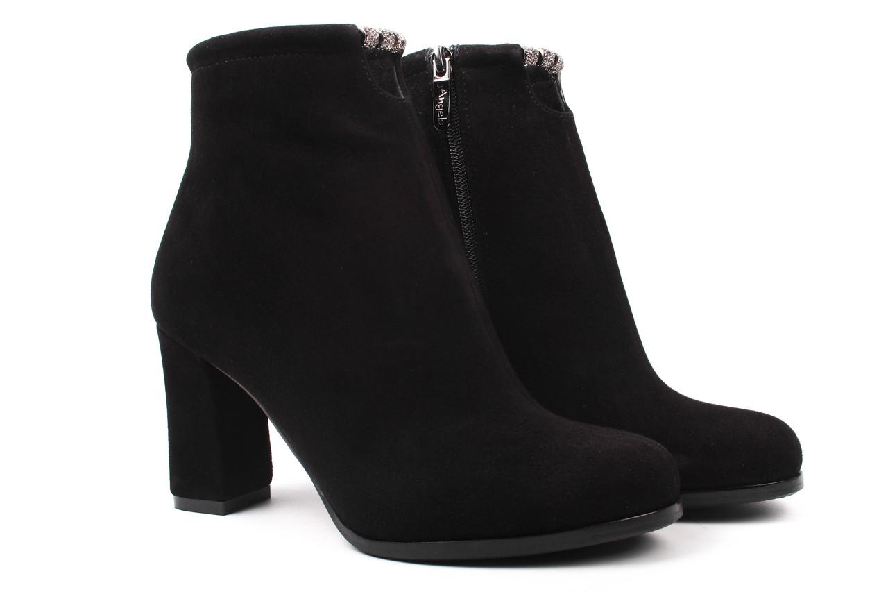 2b660dee7 Ботинки женские Angels натуральный замш, цвет черный (ботильоны, каблук,  весна\осень