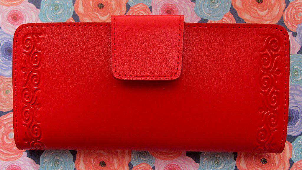 5553604fec44 Яркий женский кожаный кошелёк с узором , цена 519 грн., купить в ...