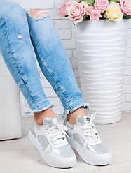 Кроссовки женские кожаные ALIKA белые 6250-31