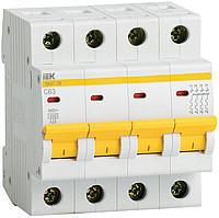 Автомат 63А IEK ВА47-29, 4P, 4,5кА, тип С