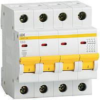Автомат 63А IEK ВА47-29, 4P, 4,5кА, тип С                           , фото 2