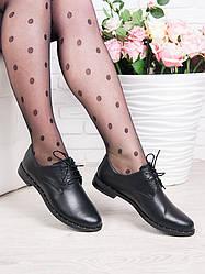 Туфли из натуральной кожи на шнурках 6360-28