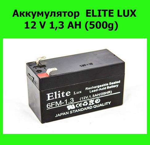 Аккумулятор ELITE LUX 12 V 1,3 AH (500g), фото 2