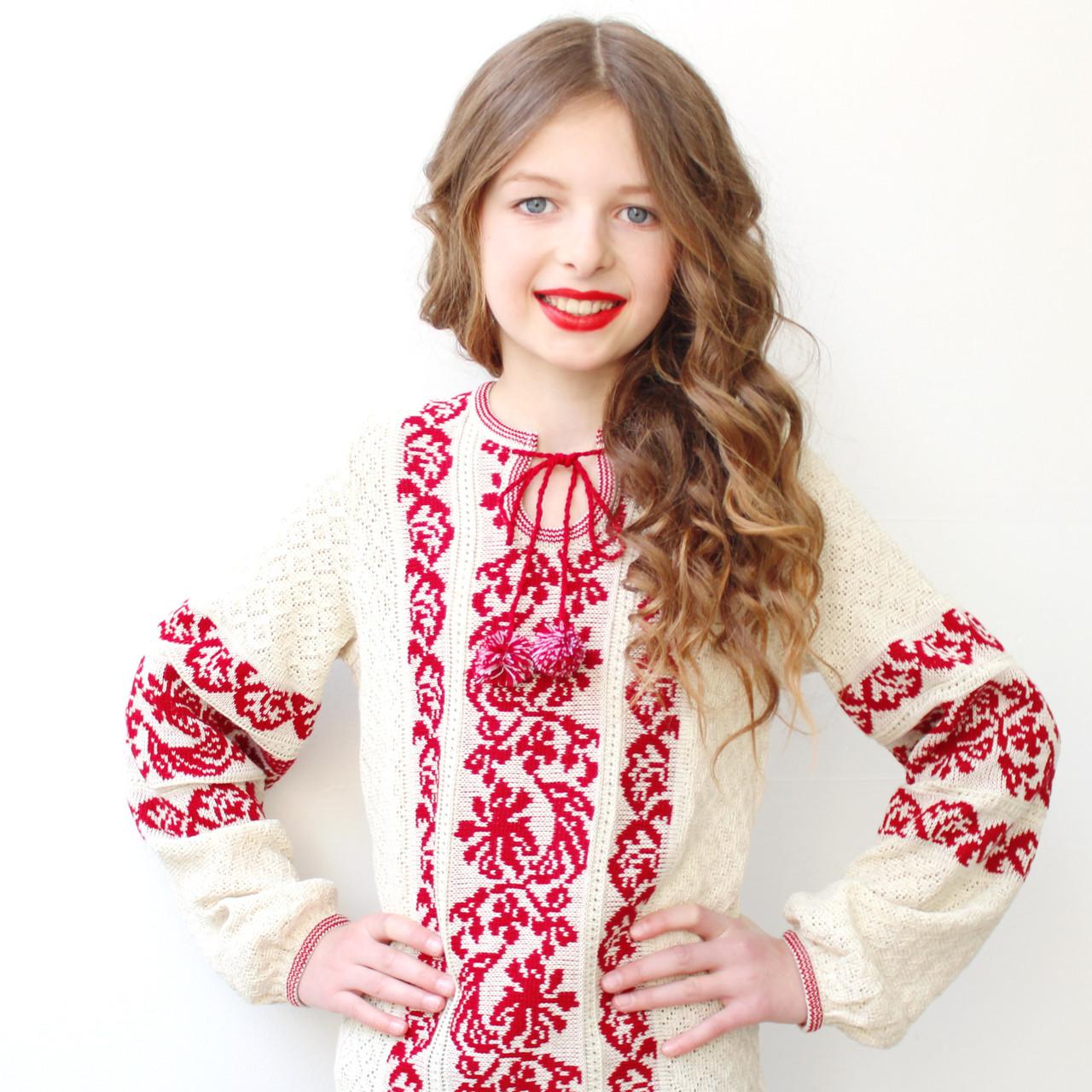 В язана вишиванка на дівчинку от Интернет-магазина