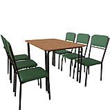 Обеденный комплект для кафе: стол Лира + 6 стульев Рио, фото 2