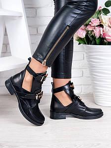 Ботинки кожаные Sollorini Balenciaga, черные