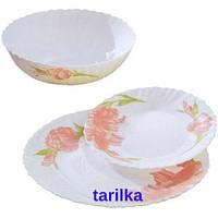 Сервиз столовий-18пр., набор столовой посуды орхидея люминарк, Luminarc Orkideya ,L4329