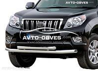 Защита переднего бампера Toyota Prado 150 2009-2013 двойной ус (пр. Украина)