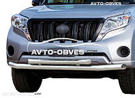 Защита переднего бампера Toyota Prado 150 2014-2018 двойной ус (пр. Украина)