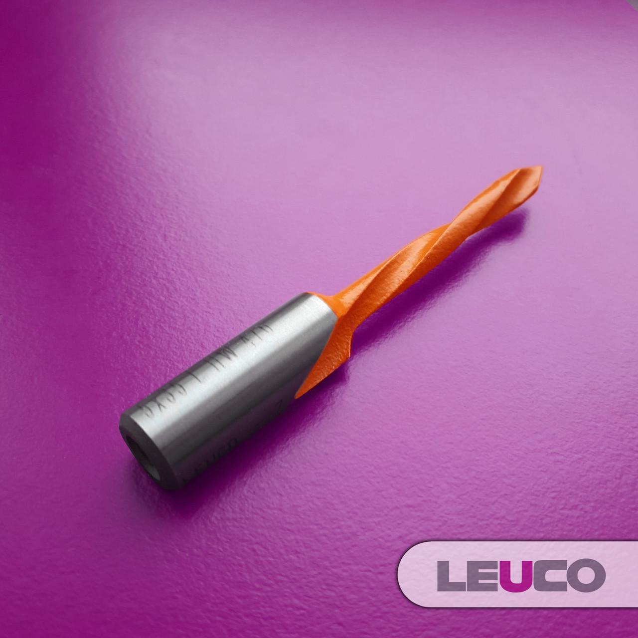 Сверло для сквозных отверстий Leuco с наконечником из твердого сплава, 5x70x35x10 (левое)