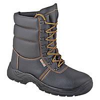 Ботинки кожаные с высокими берцами утепленные мод.FIRWIN LB S3 SRA (метал)