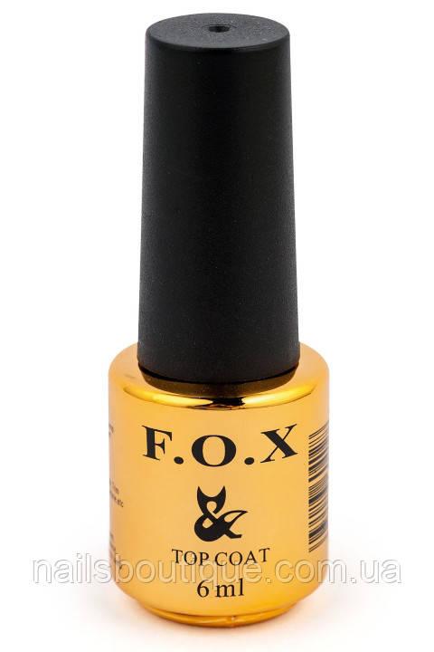 Топовое матовое покрытие для ногтей FOX Top Matt, 6мл