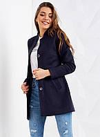 Модное пальто с воротником-стойкой