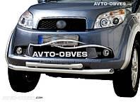 Защита переднего бампера для Daihatsu Terios  двойной ус (пр. Украина)
