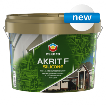 Фасадная силиконмодифицированная  (силиконовая) краска ESKARO Akrit F Silicone, 2,7л