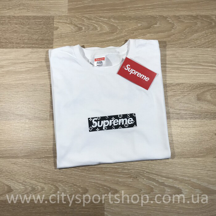 3fad81153fba Футболка с Принтом Louis Vuitton Supreme Collaboration — в Категории ...