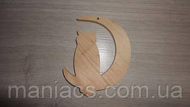 Заготовка деревянная Сова на месяце