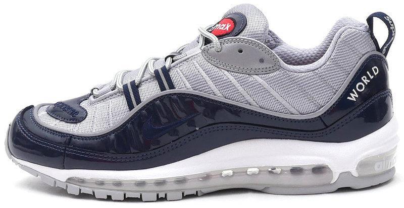 305b1f47c144 Мужские кроссовки Nike Air Max 98 Nikelab x Supreme White Blue -  Интернет-магазин