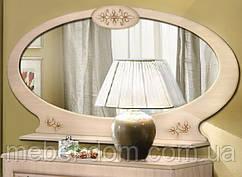 Зеркало для спальни навесное овальное Василиса Береза
